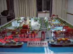 为中南大学制作的物流沙盘整体模型