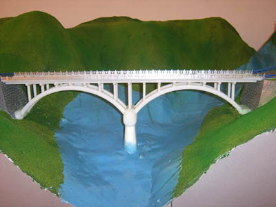 双曲拱桥构造模型(立体景观沙盘布置)