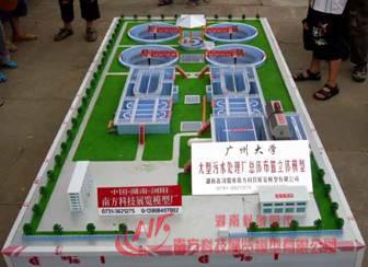 大型污水处理厂总体布置立体模型